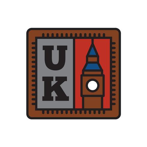 Land-Ausweis-Sammlungen, Big Ben-Symbol des großen Landes vektor