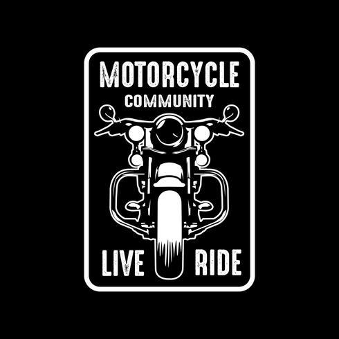 Motorrad abzeichen und logo, gut für druck vektor
