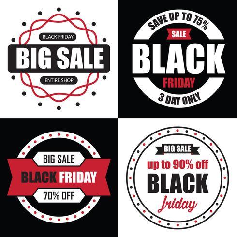 Black Friday Banner Sale, bästa tempalat för din webbsida vektor