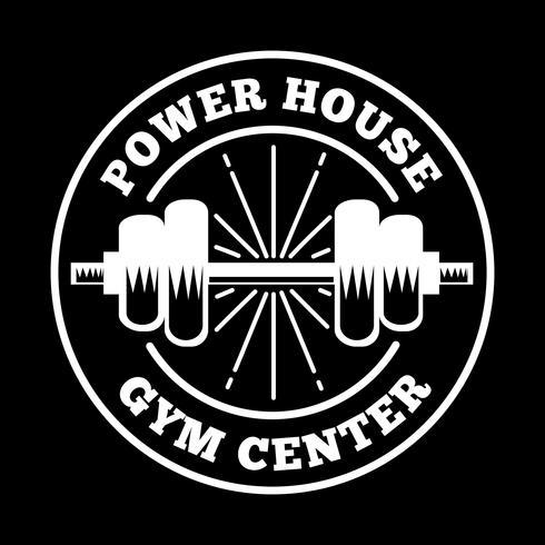 Fitness Badge und Logo, gut für Printdesign vektor