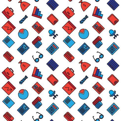 Business ikoner sömlösa mönster vektor