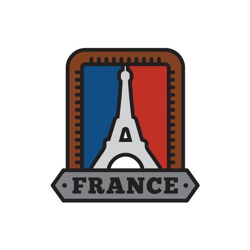 Land-Abzeichensammlungen, Paris-Symbol des großen Landes vektor