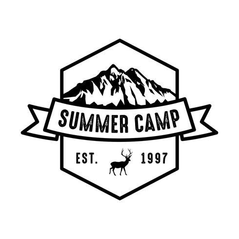 Adventure Logo und Abzeichen, gut für den Druck vektor
