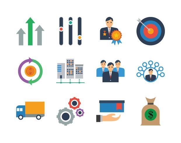 Business Icon Set Bundle, bästa vektorn för din webb vektor