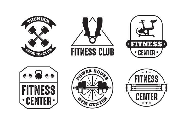 Fitnessemblem och logotyp, bra för tryckdesign vektor