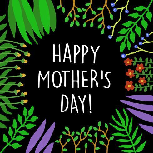 Blumenrahmen für Mutter Day Card und andere, gut für Print-Design vektor