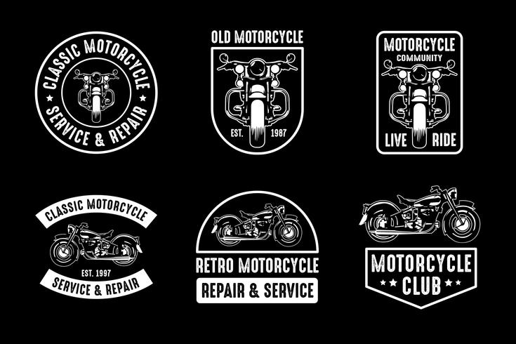 Motorcykelemblem och logotyp, bra för tryck vektor