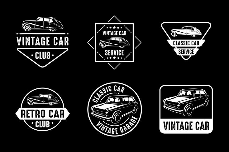 Bilemblem och logotyp, bra för tryck vektor