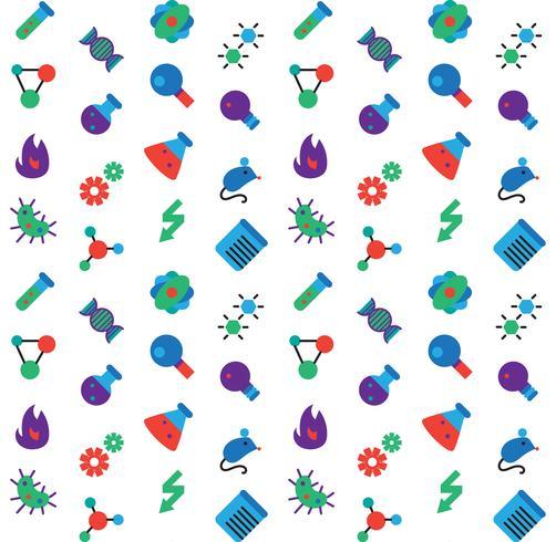 Vetenskap ikoner sömlösa mönster vektor