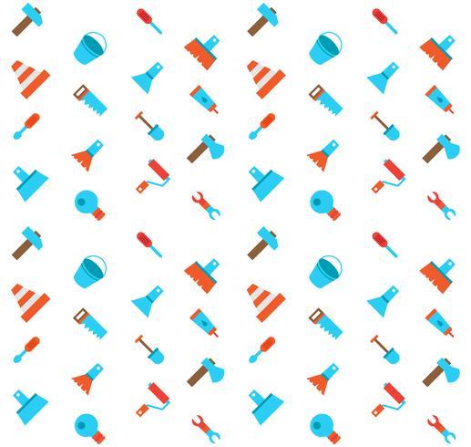 Konstruieren und Errichten des nahtlosen Musters der Ikonen vektor
