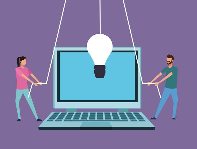 Computer-Design-Teamarbeit vektor