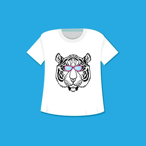 Linie Kunst Tiger vektor