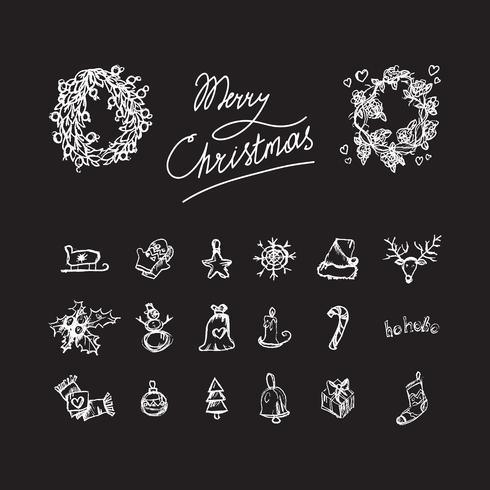 Frohe Weihnachten-Symbole vektor