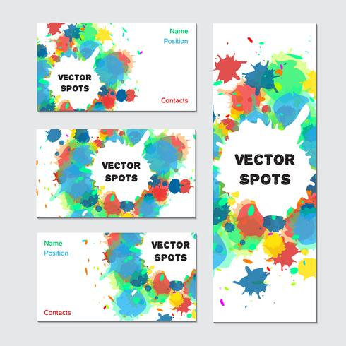 Art visitkort vektor