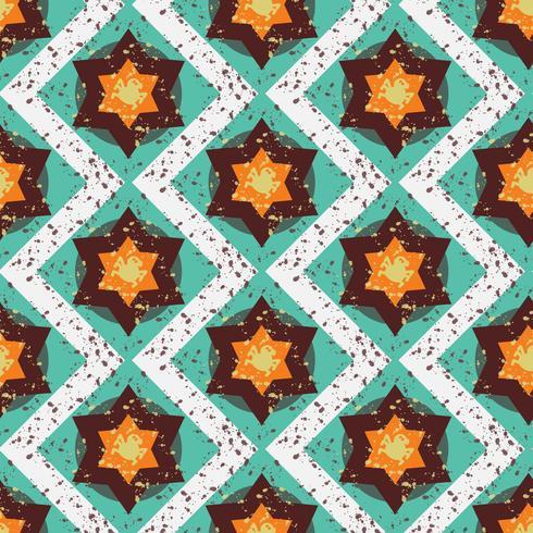 Grunge färgglada halloween geometriska sömlösa mönster vektor
