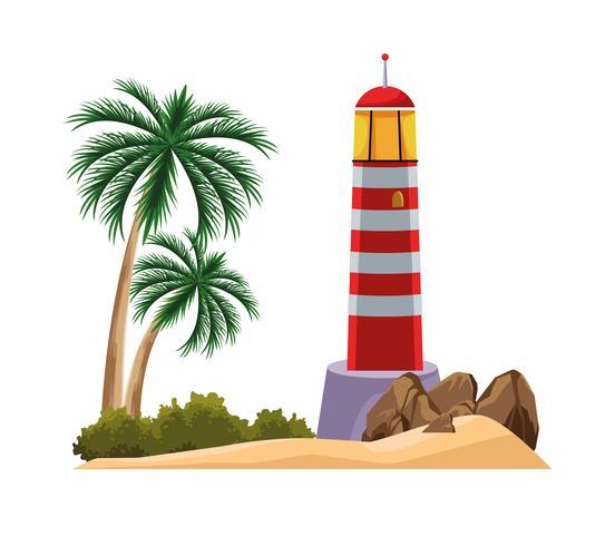 strandlandskap tecknad vektor