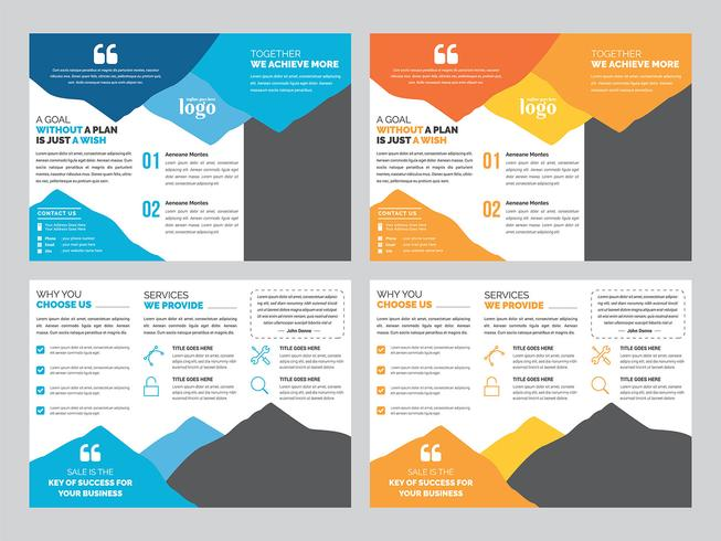 Tri fold broschyr designmall vektor