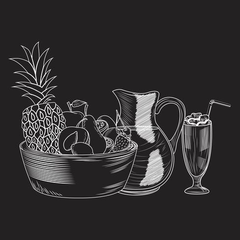 Frukt smoothie drink vektor