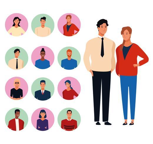 Karikaturen der jungen Leute vektor