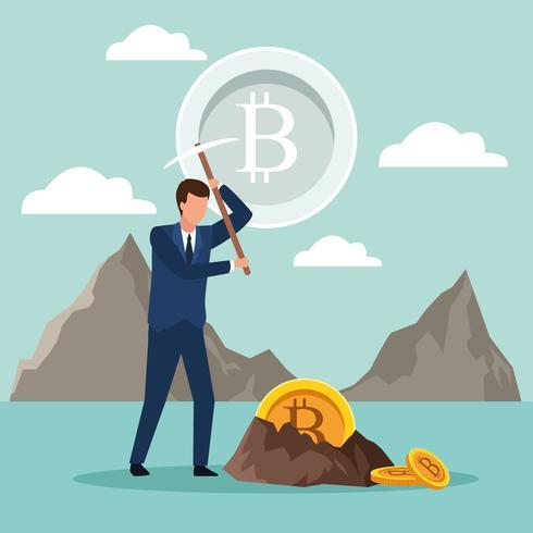Digital Mining Bitcoin vektor