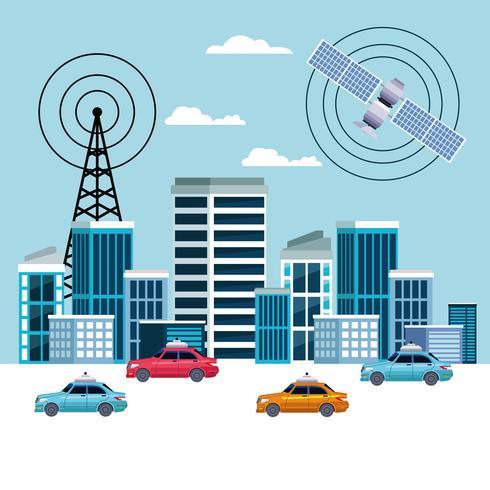 GPS-Standort Auto-Service-Konzept vektor