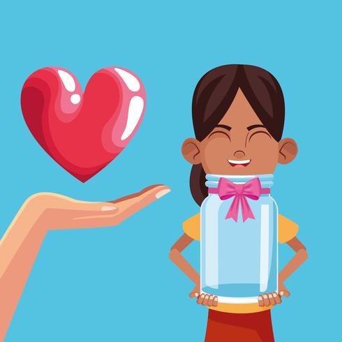 Kinderspende und Wohltätigkeit vektor