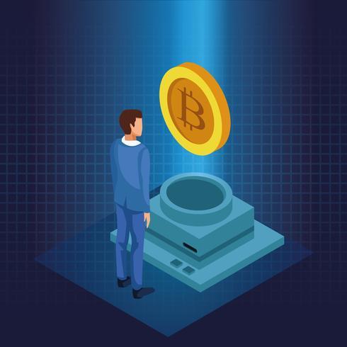 Bitcoin-Kryptowährungstechnologie vektor