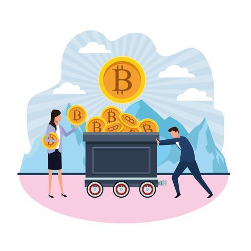 digital gruvdrift bitcoin vektor