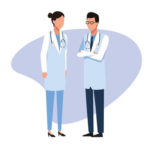 Ärzteteam Job und Arbeiter vektor