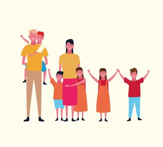 familjegruppavatar vektor