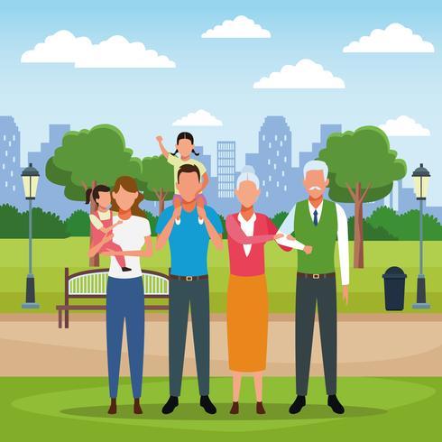 Familie Menschen Cartoon vektor