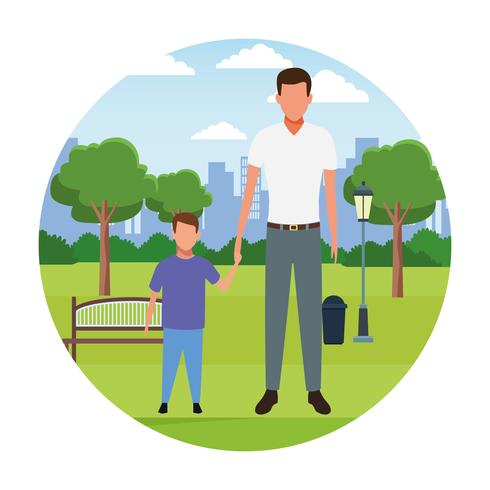 Cartoons mit Familienmitgliedern vektor