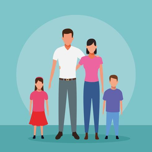 Familjens tecknad film vektor
