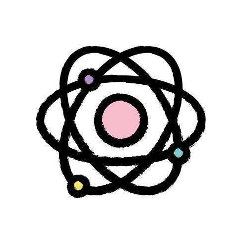 Physik-Orbit-Atom-Chemie-Ausbildung vektor