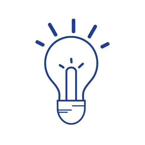 silhuett glödlampa idé till intelligent och kreativ vektor
