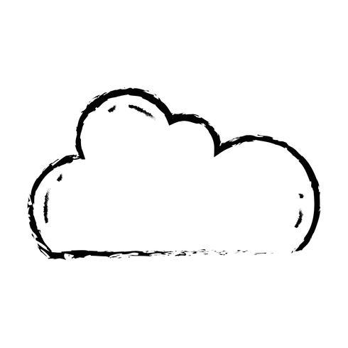 Abbildung Cloud-Daten-Netzwerk-Server-Verbindung vektor