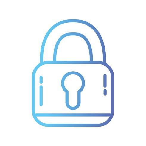 linje hänglås säkerhetsskydd objekt för sekretessinformation vektor