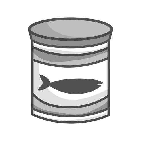Graustufen kann Thunfischmehl mit gesunder Ernährung vektor