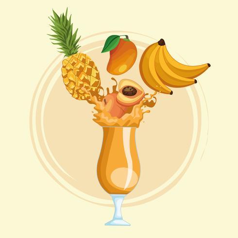 Smoothies mit Früchten vektor