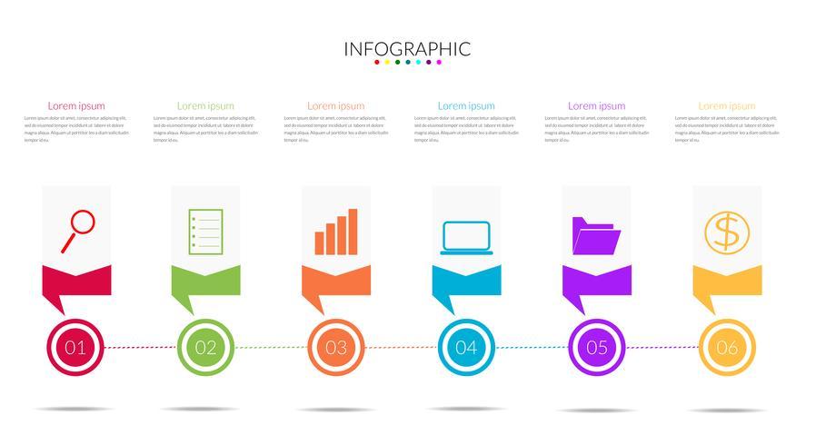 modern Infographics tidslinjevektor vektor