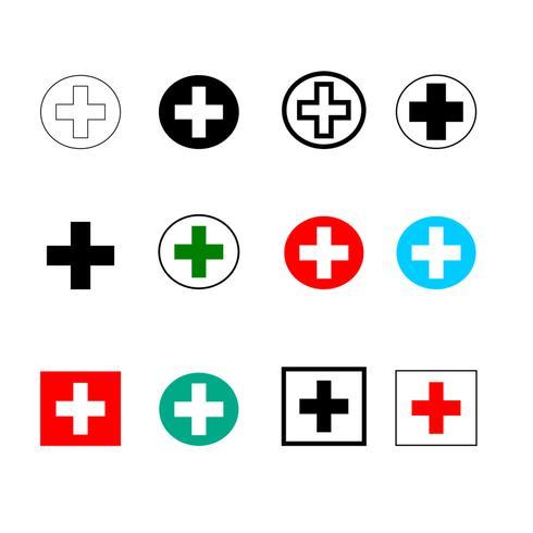 Symbole markiert Krankenhaus vektor