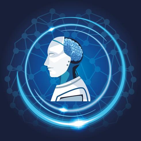 Roboter mit künstlicher Intelligenz vektor