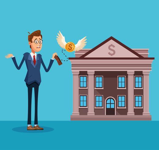 Geschäftsmann Bankier Cartoon vektor