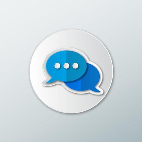 Sprechblase mit Chat-Symbol vektor