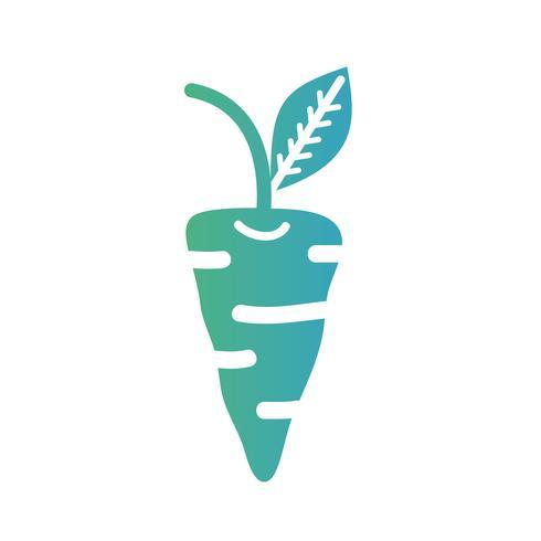 Linie organische Karottengemüsenahrung vektor