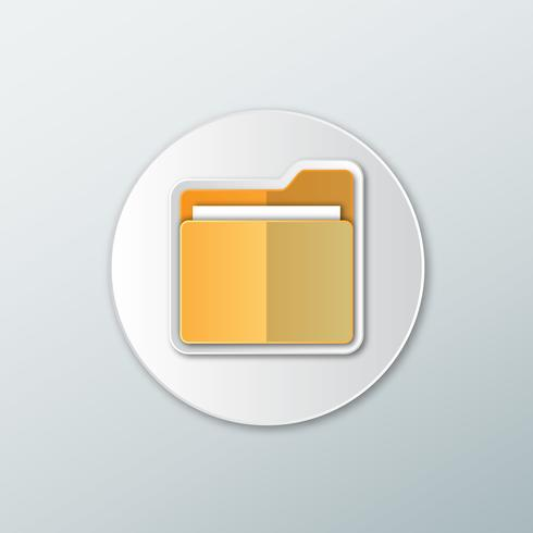 Icon gelbe Dateiordner vektor