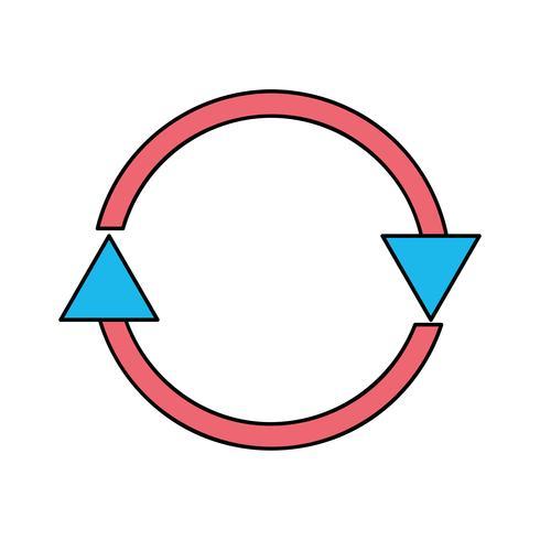 Farbpfeile im Kreissymbol für den Ladevorgang vektor