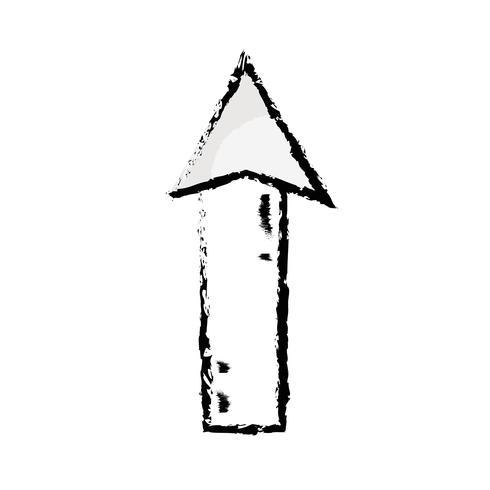 Abbildung Web-Pfeil nach oben Symbol laden vektor