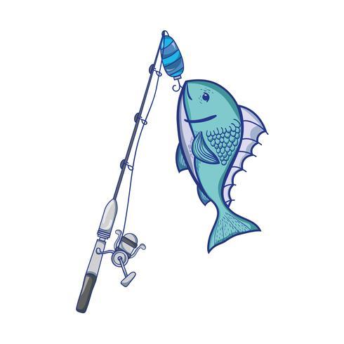 Spincash Reel fangen das Fischfutter vektor