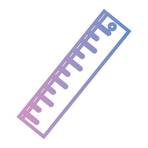 Lineal Design zur Schulwerkzeugbildung vektor